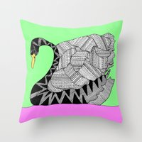 Another Swan Throw Pillow