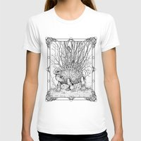 The Wandering Home Womens Fitted Tee White SMALL