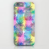 iPhone & iPod Case featuring Pineapple CMYK Repeat by Schatzi Brown
