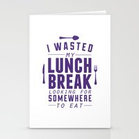 Lunch Stationery Cards