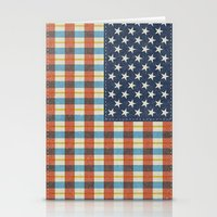 Plaid Flag. Stationery Cards