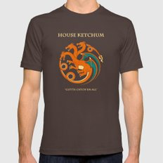 House Ketchum Mens Fitted Tee Brown SMALL