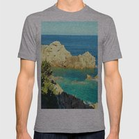 Costa Paradiso - Sardinia Mens Fitted Tee Athletic Grey SMALL