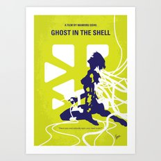 No366 My Ghost in the Shell minimal movie poster Art Print