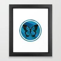 Blue Virus Framed Art Print