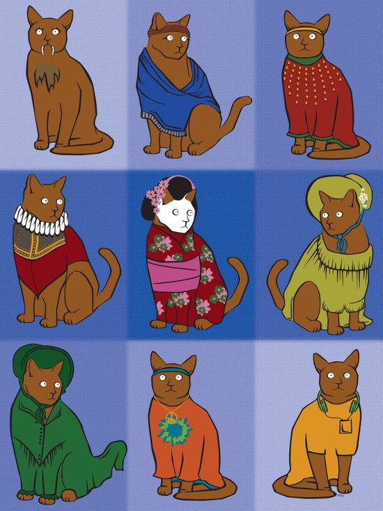 The Nine Lives of Felis Catus Art Print