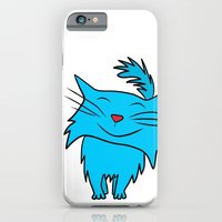 iPhone & iPod Case featuring Happy Blue Cat by Cloud Rainbow