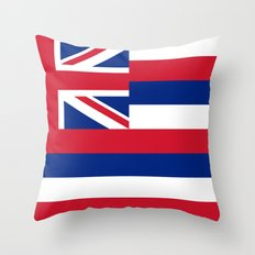 Flag of Hawaii - Authentic High Quality image Throw Pillow