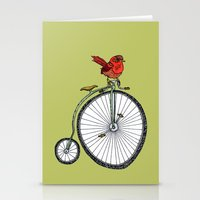bird on a bicycle. Stationery Cards