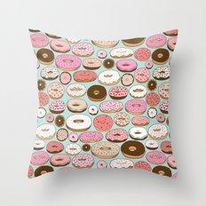 Donut Wonderland Throw Pillow