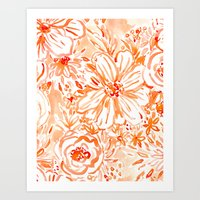 BIG SUNSHINE Floral Art Print