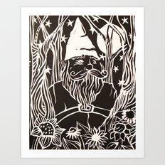 Gnome Art Print
