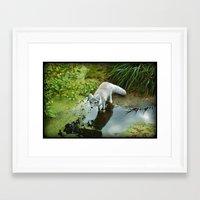 Get Your Feet Wet Framed Art Print