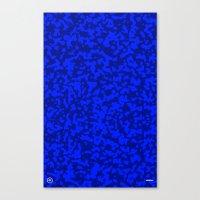 Comp  Camouflage / Blue Canvas Print