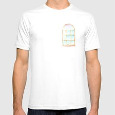 Window SMALL White Mens Fitted Tee