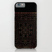 iPhone & iPod Case featuring Geometric I - Black on Wood by CAPow!