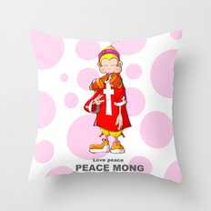 Peace mong Throw Pillow