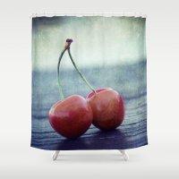Cherry Kiss Shower Curtain
