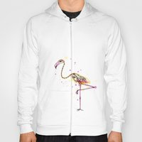 Flamingo Skeleton Watercolor Hoody