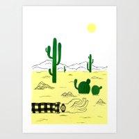 Man & Nature - The Deser… Art Print