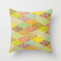 SPONGE CAKE / PATTERN SERIES 001 Throw Pillow