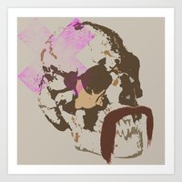 agent skull Art Print