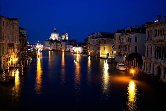 Grand Canal by Night Art Print