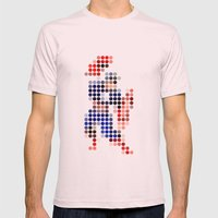 Mr A Mens Fitted Tee Light Pink SMALL