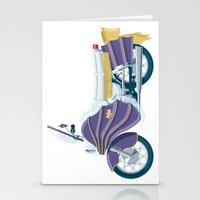 Batgirl's bike Stationery Cards