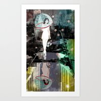 BUBBLE RAIN Art Print