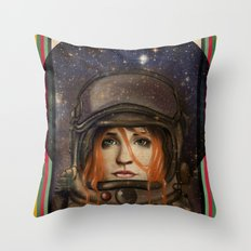 Give me Space (Girl) Throw Pillow