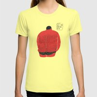 Don't Turn Your Back On … Womens Fitted Tee Lemon SMALL