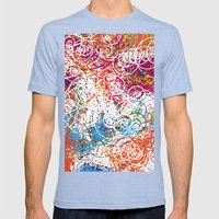 Joe Kay - Soul Division Mens Fitted Tee Tri-Blue SMALL