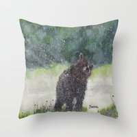 Looking For A Cave Throw Pillow