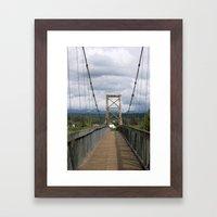 Across the Bridge and Beyond Framed Art Print