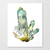 Fuchite Cluster Canvas Print
