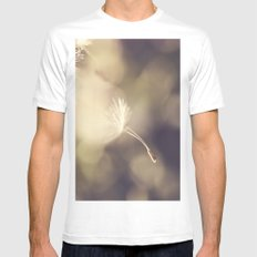 Broken Dandelion, Bokeh White SMALL Mens Fitted Tee