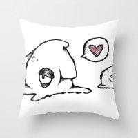 Squid Love Throw Pillow