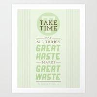Take Time Art Print