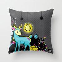 Kawaii Deer Throw Pillow