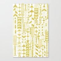 Golden Doodle arrows Canvas Print