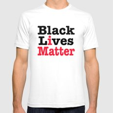 BLACK LIVES MATTER White Mens Fitted Tee SMALL