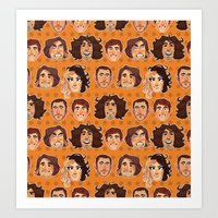 Game Grumps Pattern New Art Print