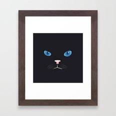 Little black cat Framed Art Print
