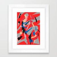 Redactive Framed Art Print