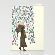 Rain Dance Stationery Cards