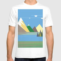 Hills SMALL Mens Fitted Tee White