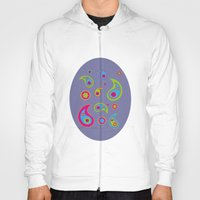 Paisleys - Jasmine Canvas Background Hoody