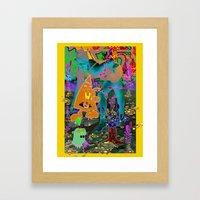 Blu... Framed Art Print