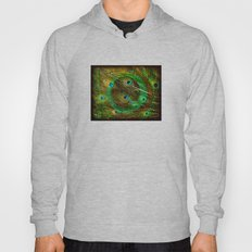 The Peacock Dream In Gold Hoody